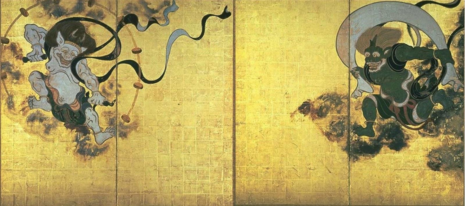 Fūjin-raijin-zu by Tawaraya Sōtatsu