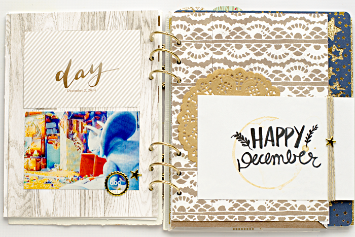 December Daily Memories Album Days Two from The Lilypad BYOC December 2014 release