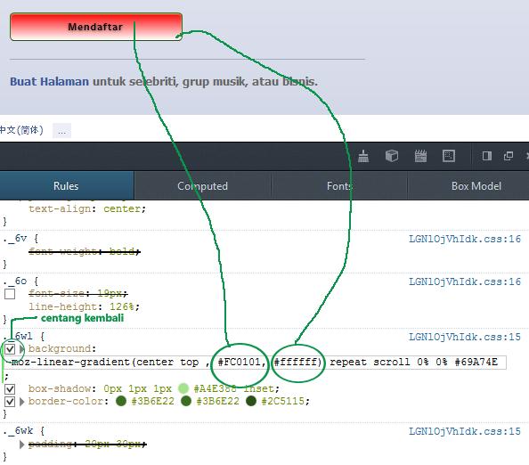 Menggunakan inspect element pada browser untuk memahami HTML