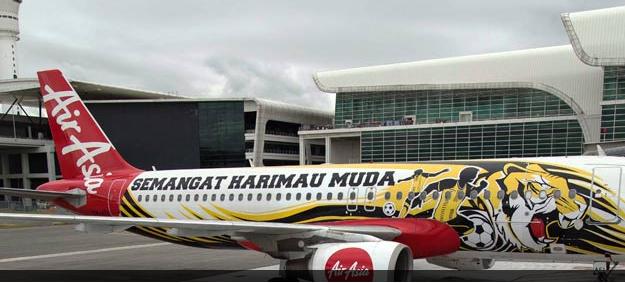 Gambar Pesawat AirAsia Dihiasi Lambang Harimau Muda