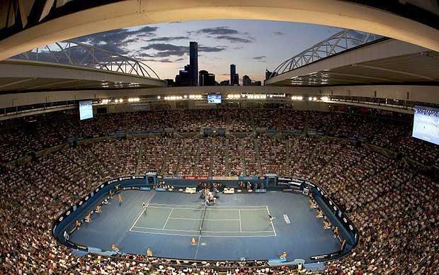 Photographs of australian open venue melbourne park for Door 9 rod laver arena