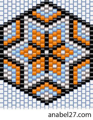схемы бисероплетение мозаика free beading patterns peyote brick earrings