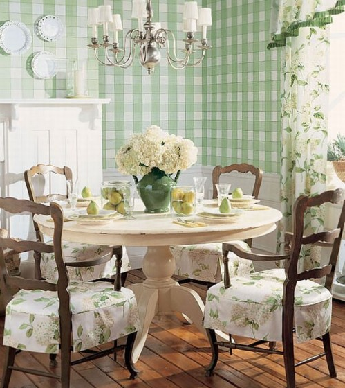 French Country Kitchen Green: Anyone Can Decorate: Dining Inspiration Pictures