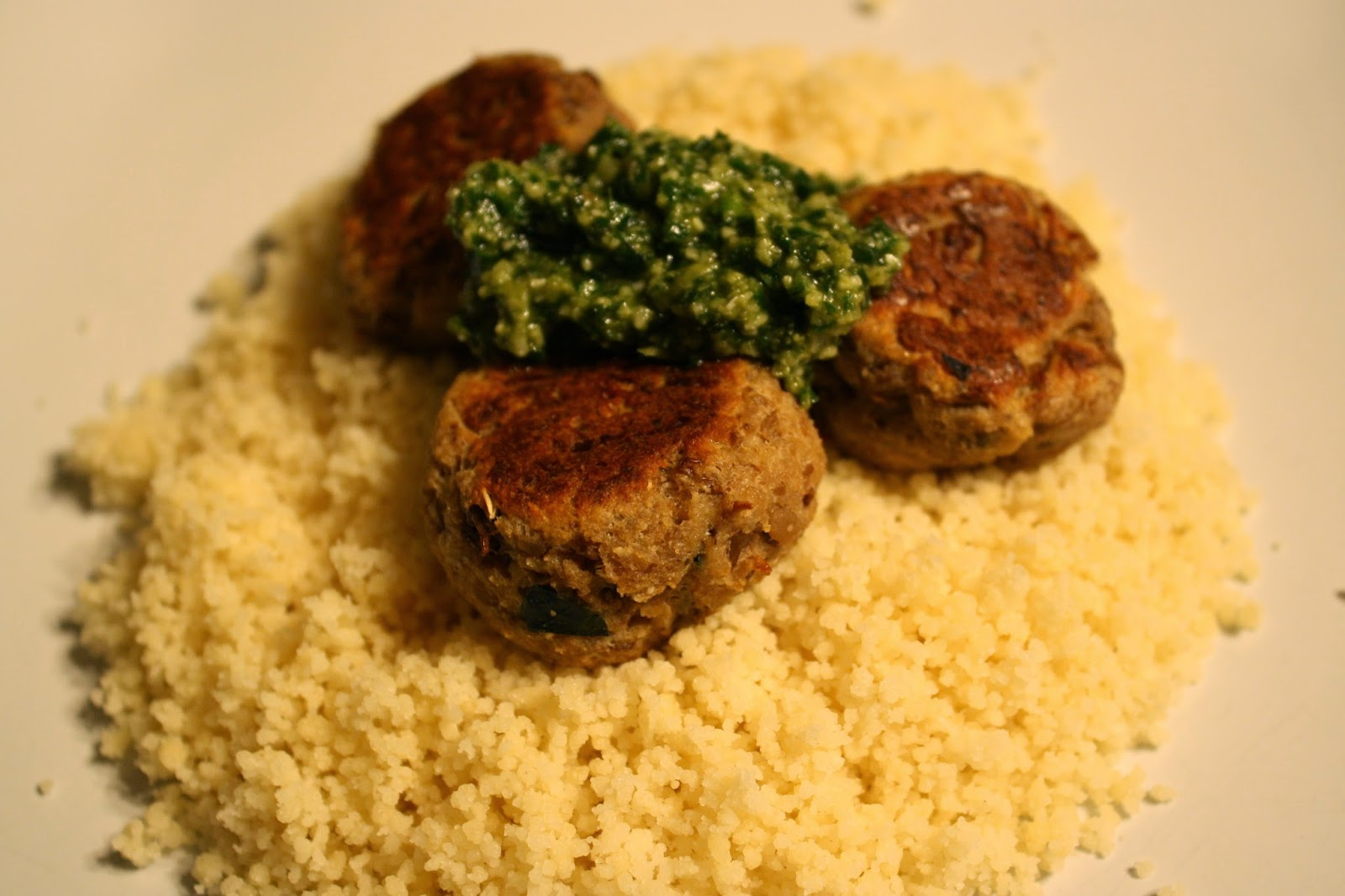 "Lactose-Free Girl: Lentil ""Meatballs"" with Lemon Pesto"