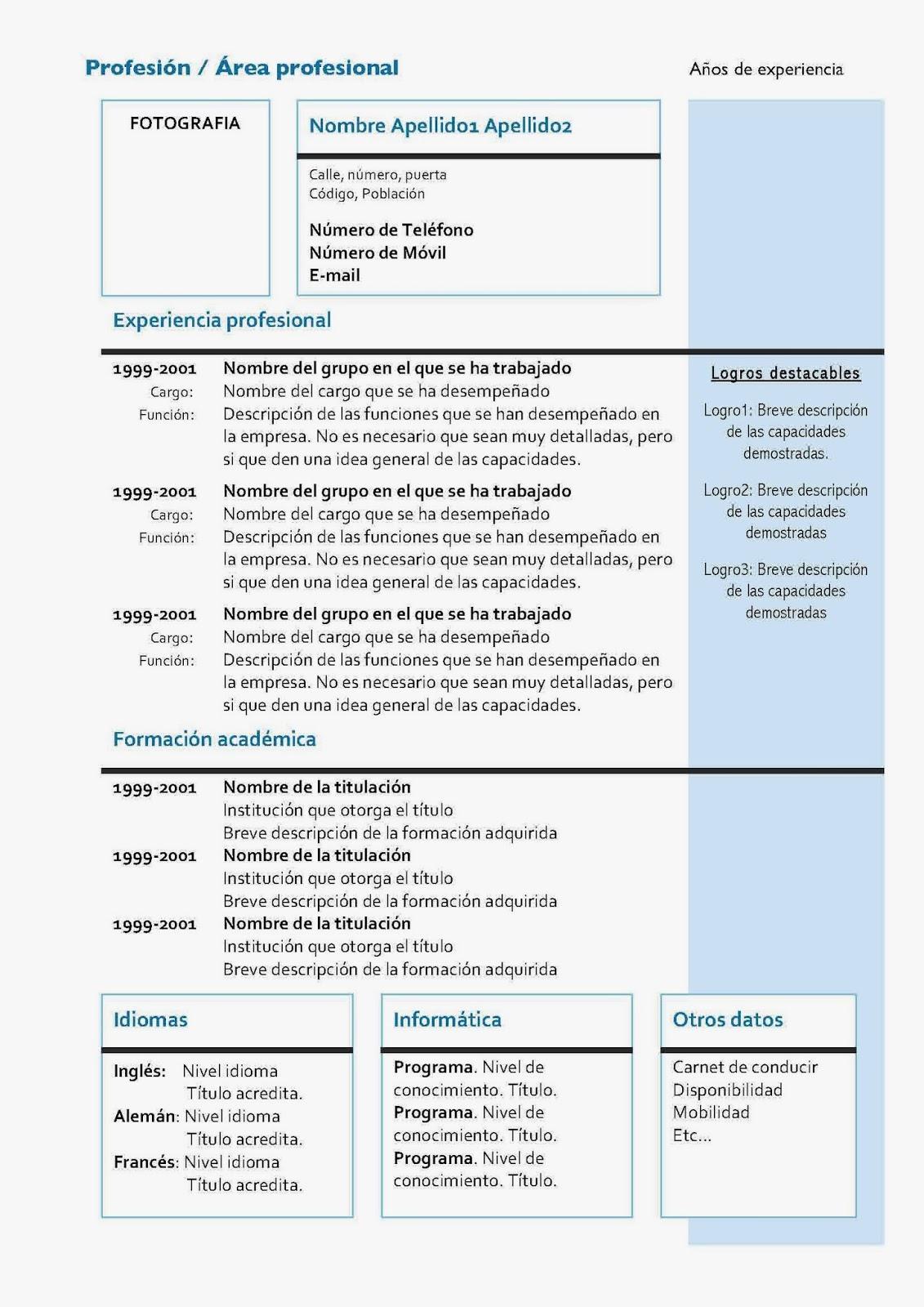 FOL TAFAD: Elaborar un Currículum vitae