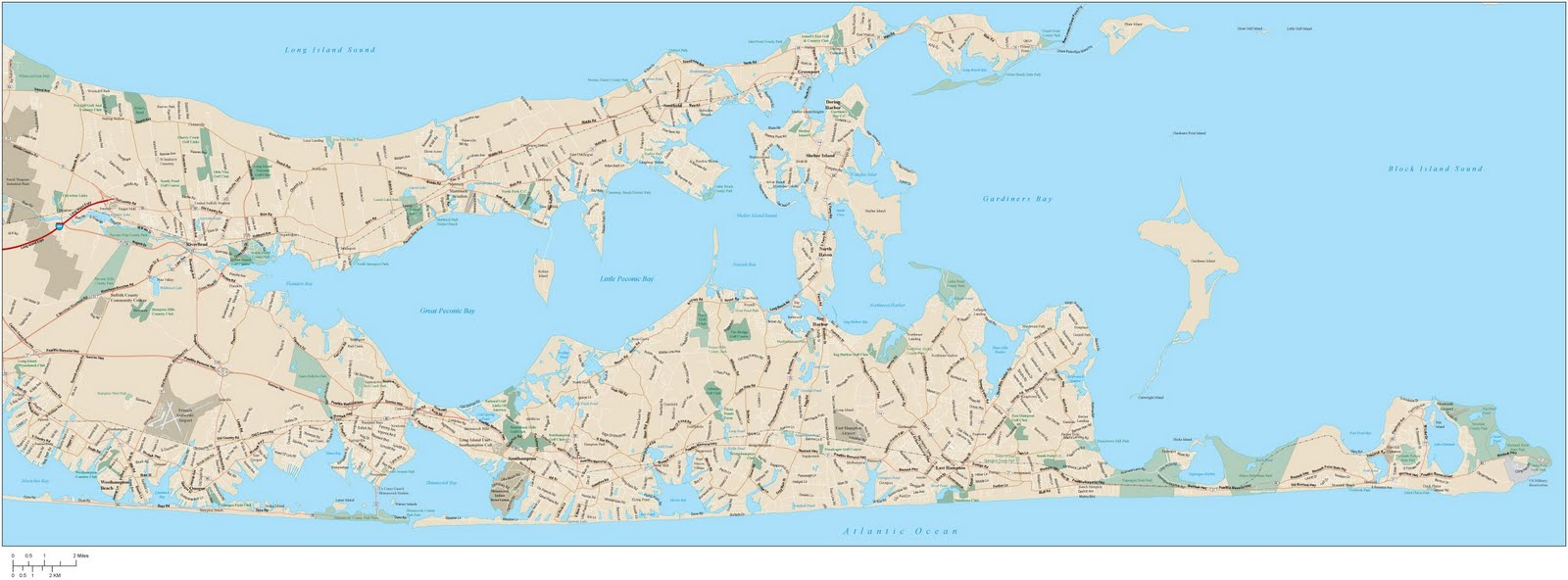 map of the hamptons