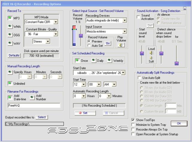 Descargar Free Hi-Q Recorder (Graba cualquier sonido de tu PC )