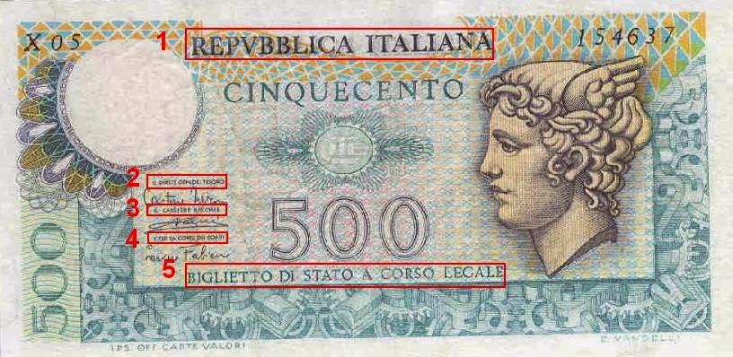 La banconota di Stato