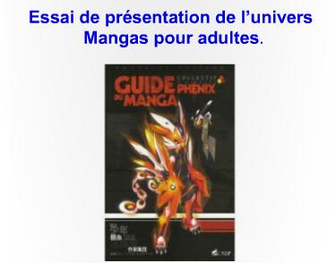 Essai de présentation de l'univers Manga adulte (2007)