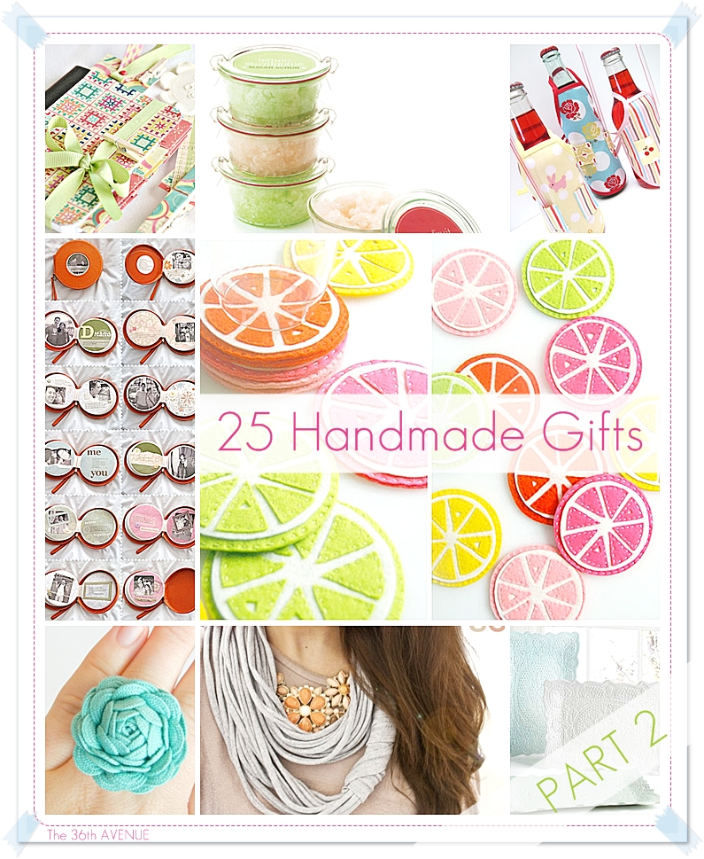 25 diy handmade gift tutorials part 2 the 36th avenue for Handmade things for home