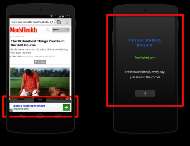 sticky banner - nové reklamné formáty od googlu