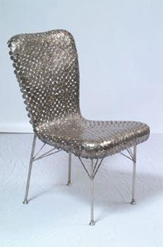 Diseño de silla con monedas