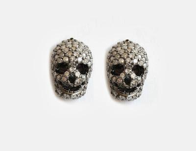 """Kalavera"" Diamond Stud Earrings: 1.76 Carat Diamonds Set in Sterling Silver Rhoidum ($2,500.00)"