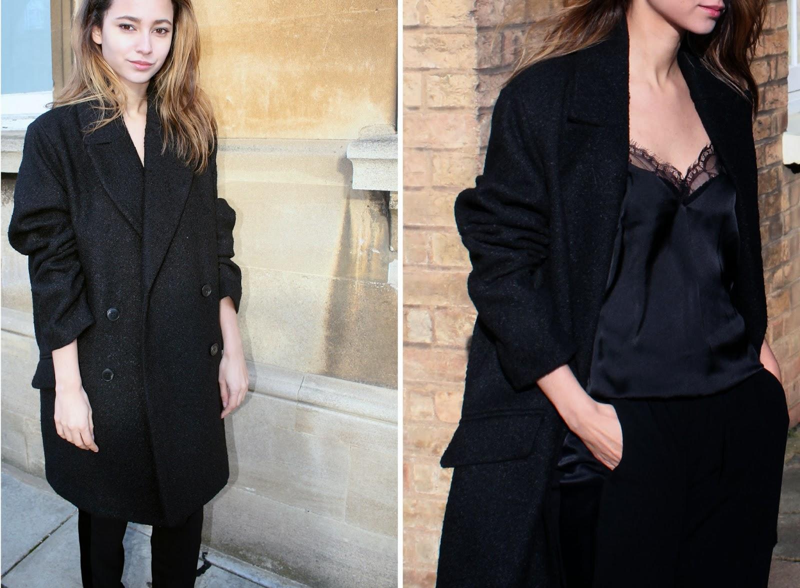 Mango Texture Wool-Blend Oversize Coat