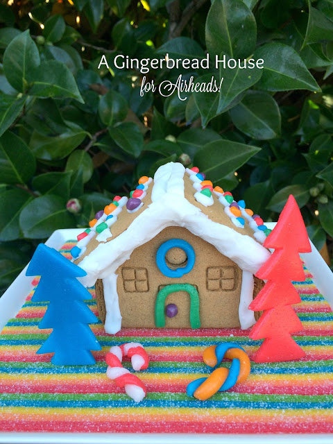 Gingerbread House decorated using only Airheads Candies! | www.jacolynmurphy.com