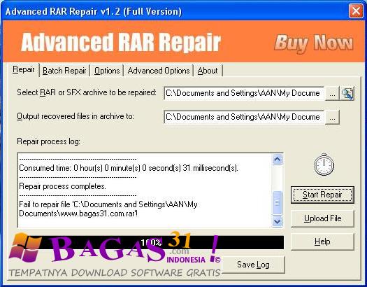 Bagus 31: Advanced RAR Repair 1.2 Full Version
