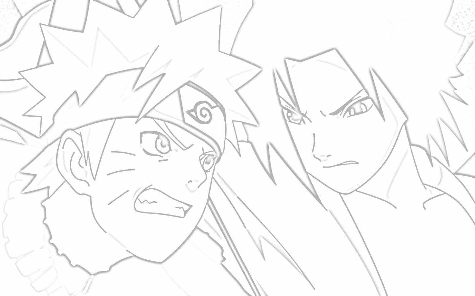 Free E Vs Naruto Coloring Pages