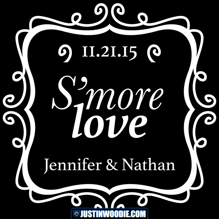 S'more Love For Jen And Nathan's Wedding Graphic Design