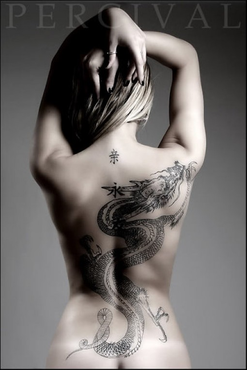 2012 Awesome Dragon Tattoos design For Hot Women