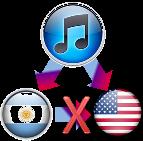 iTunes Store Argentina cambiar país por U.S.A.