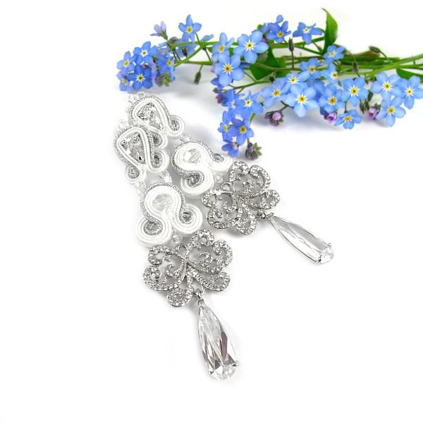 Sutasz ślubny z kryształami Swarovski Novia Blanca