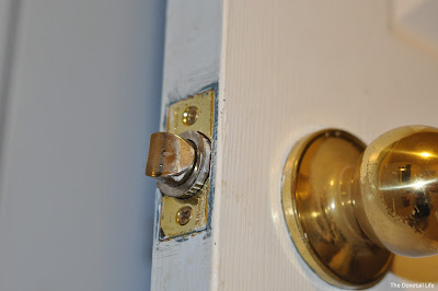Close-up interior door and knob