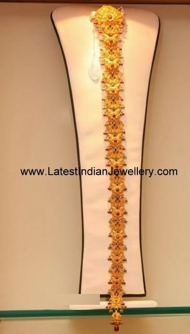 Peacock Design Gold Choti Jada