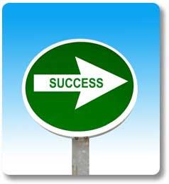 Green Success Arrow Sign