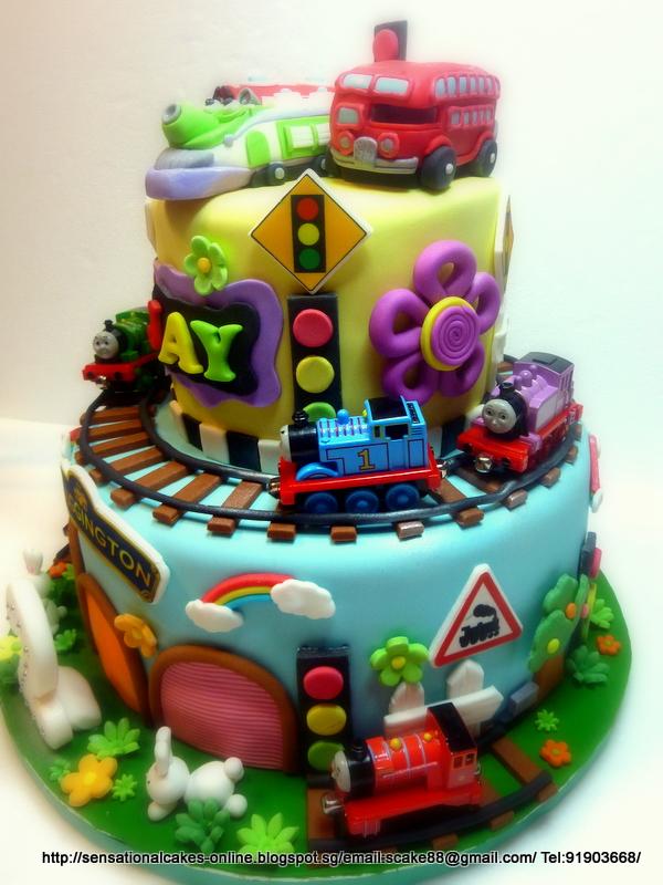 The Sensational Cakes London Bus Koko Wilson Chugginton Cake