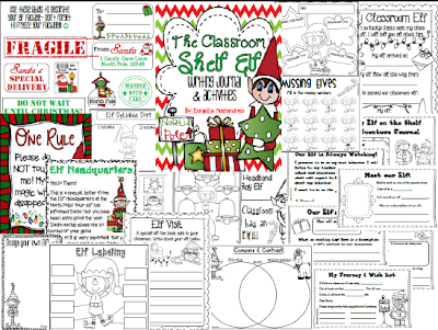 http://www.teacherspayteachers.com/Product/Classroom-Shelf-Elf-Writing-Journal-Activities-1005105