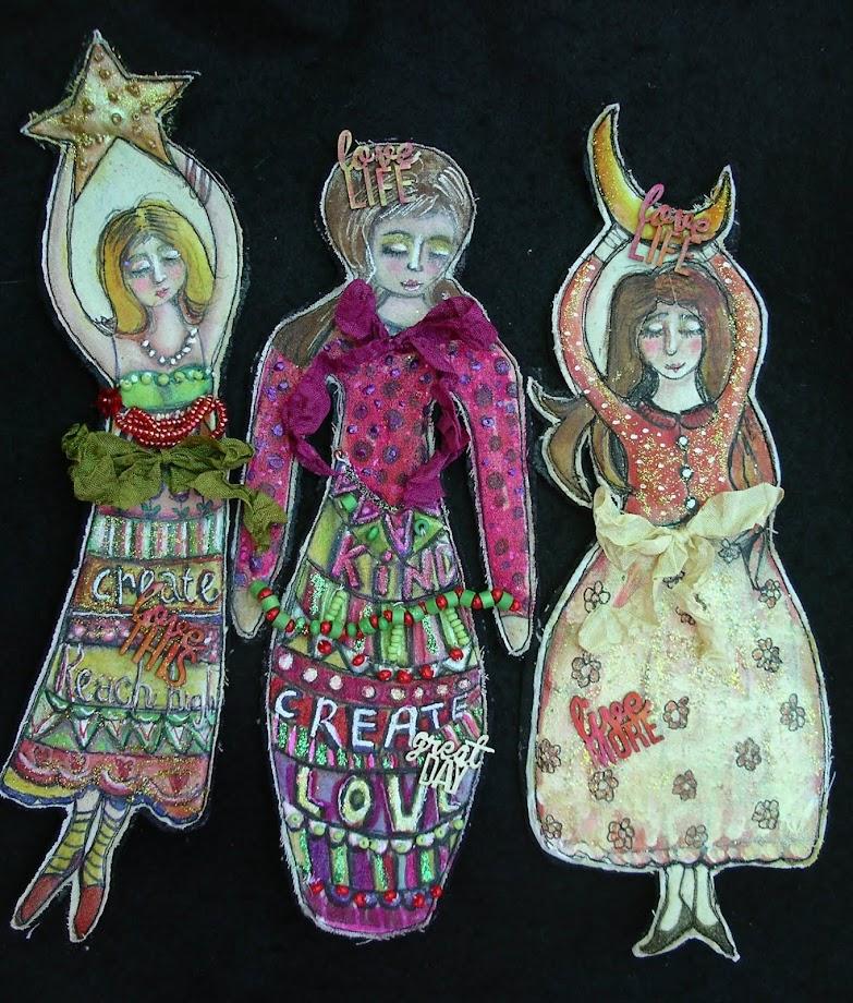 Flat Art Dolls