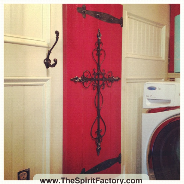 my dream laundry room a blissful spirit since the fuse box could not be moved there was no reason it had to be an eyesore in the room