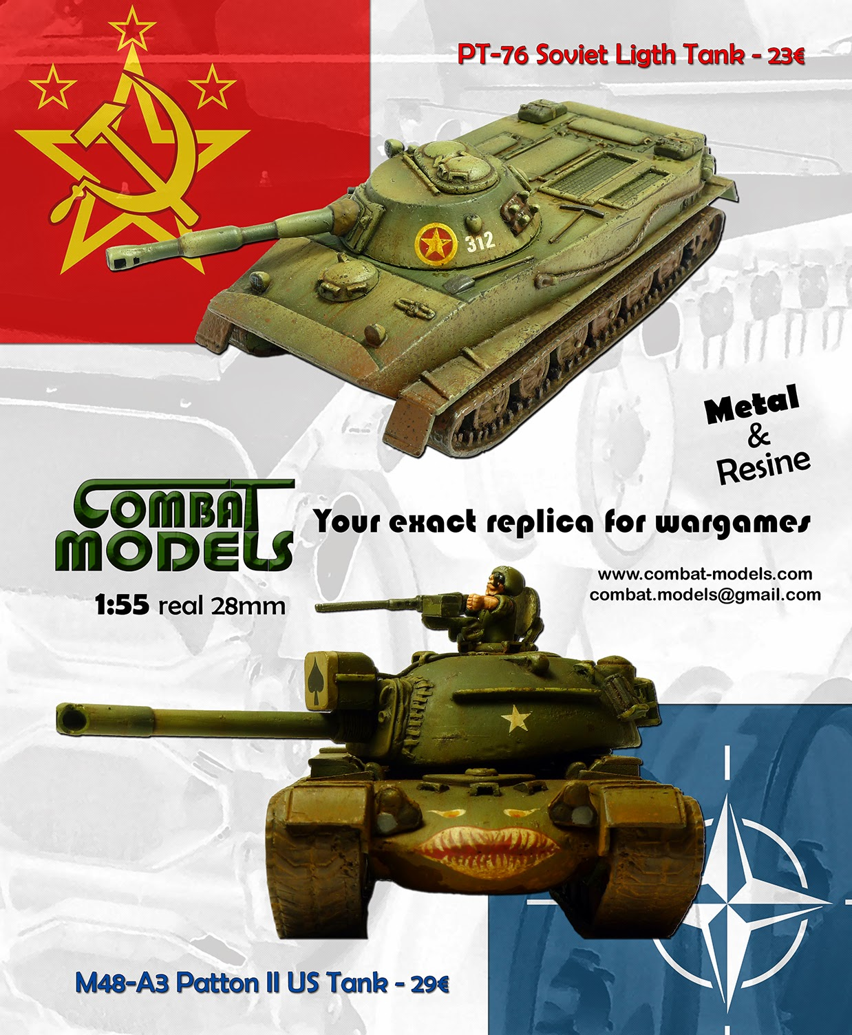 COMBAT MODELS - Cold War Tanks