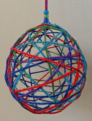 DIY Hanging Fiber Ball - from Hands On Crafts for Kids
