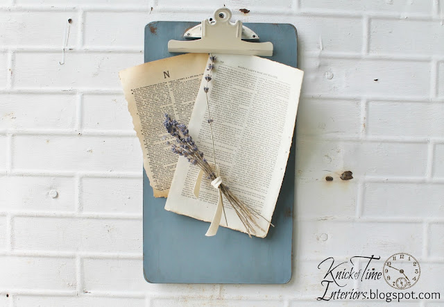 Painted clipboards to match your decor - KnickofTime.net