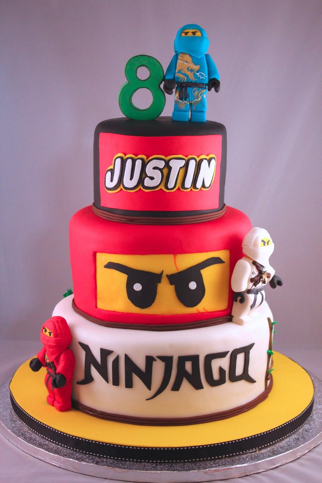 yummy thingy justins ninjago cake