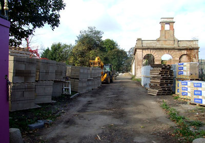 Gosport station during restoration