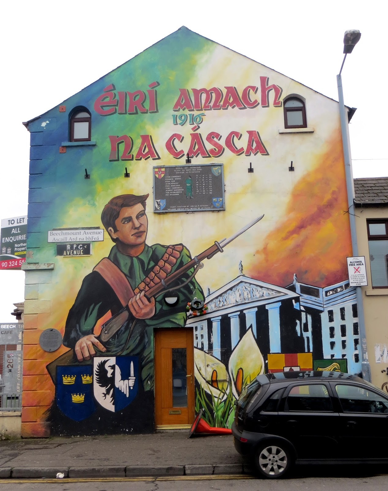 A step into the unknown a guide to belfast northern for Murals belfast