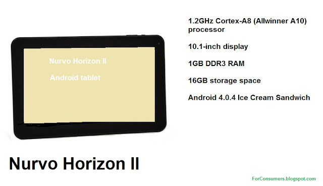 Nurvo Horizon II cheap Android tablet test
