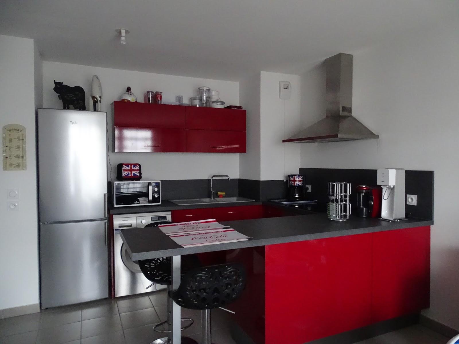 Cuisine Rouge Brillant votre cuisine mobalpa par virginie: cuisine mobalpa kiffa rouge
