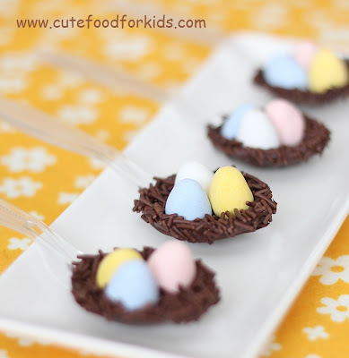 Chocolate spoon nests