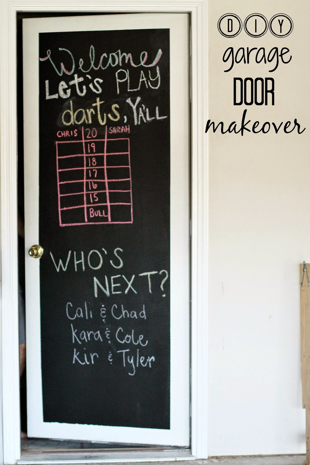 Tucker Up Diy Garage Door Scoreboard