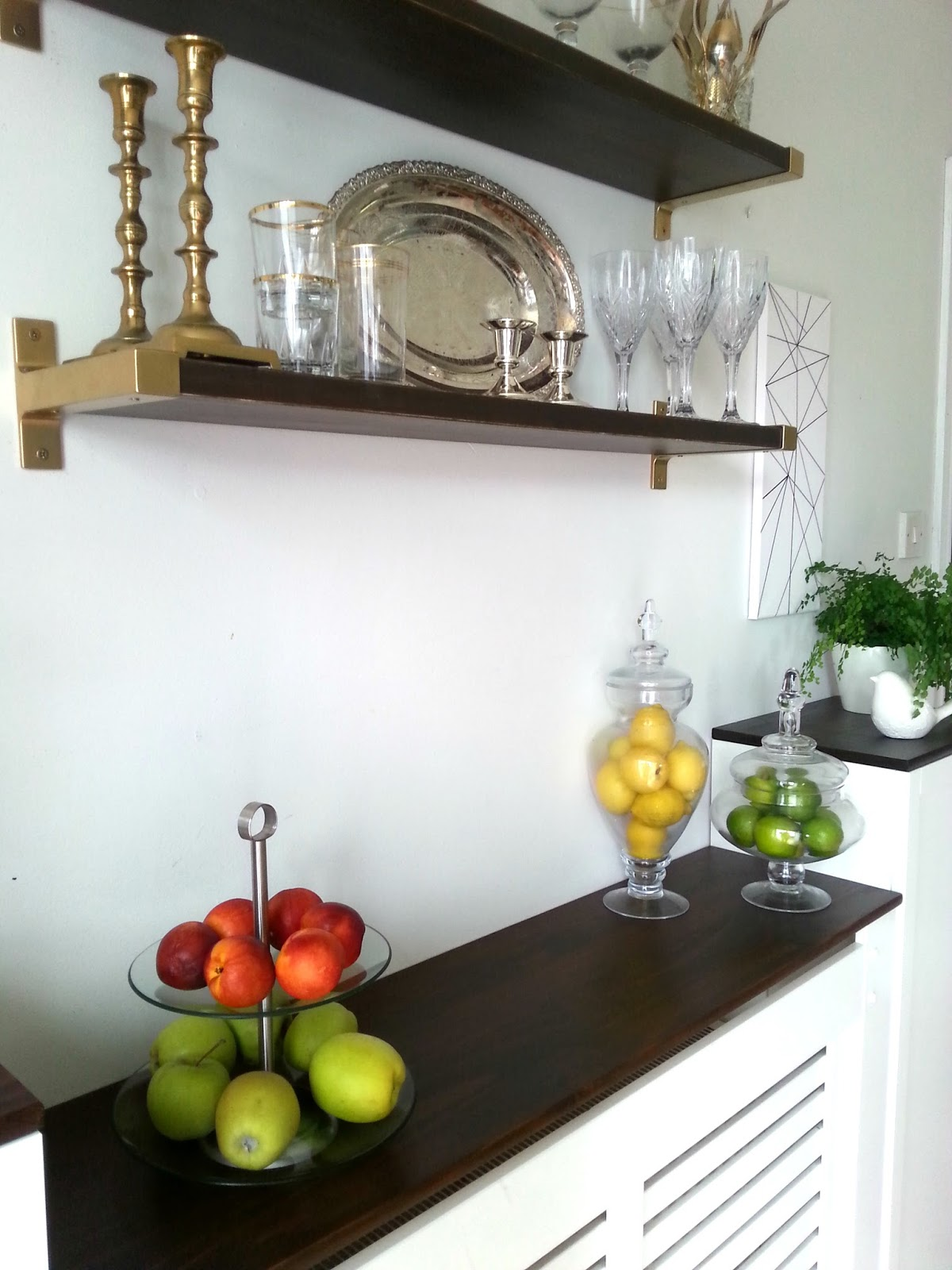Ikeahack for builtin dining room storagewhen you have to work