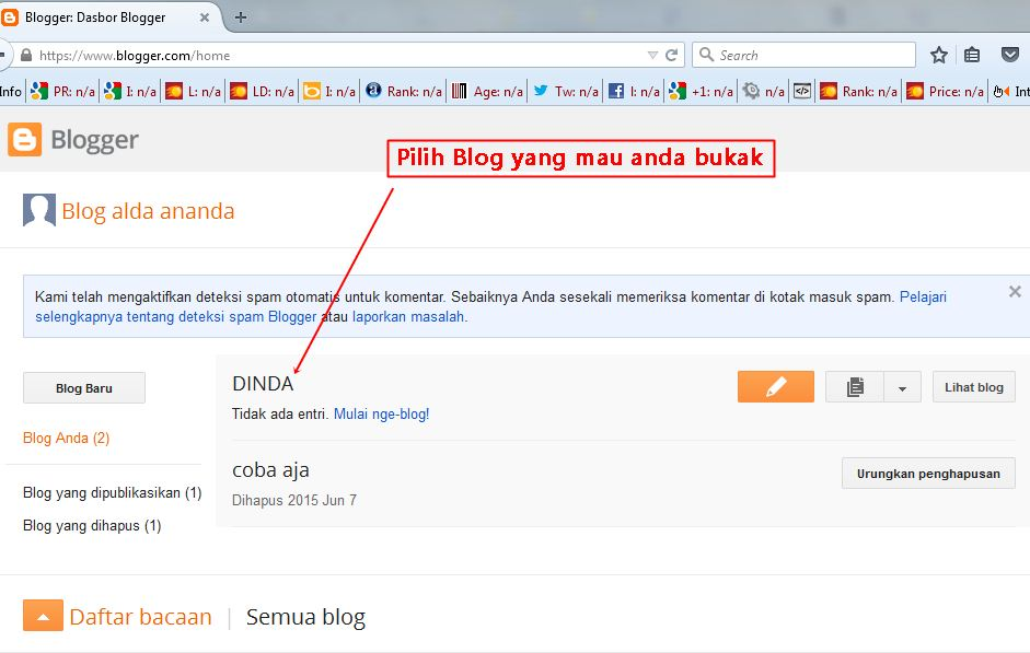 Tutorial Posting Artikel pada Blogger (Beserta Gambar)
