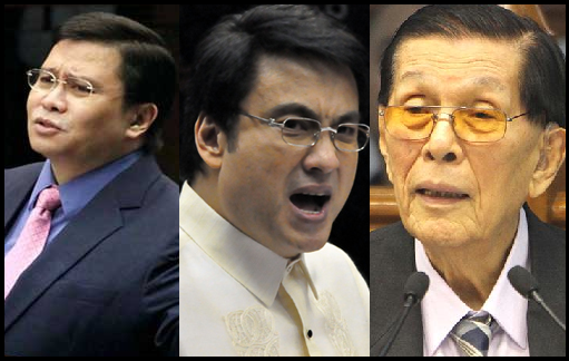 Plunder Case Against Enrile, Estrada and Revilla Related to Pork Barrel Scam.
