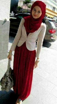 Model hijab dress casual remaja