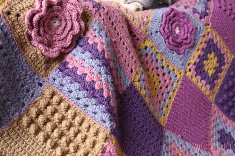 200 labores de ganchillo para mantas colchas y tapices - Colchas a ganchillo muestras ...