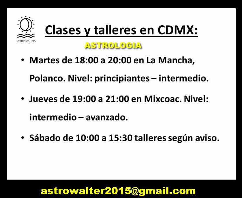 ASTROLOGIA CLASES Y TALLERES CON WALTER ANLIKER