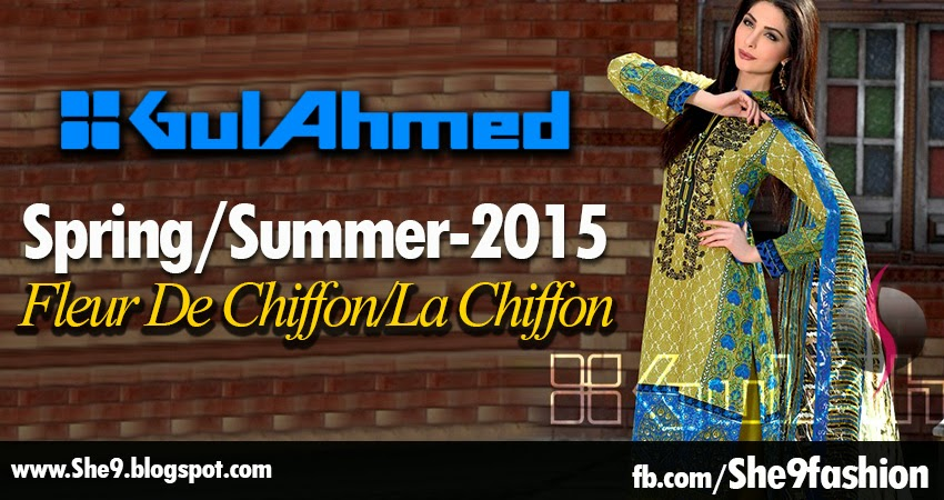 Gul Ahmed La Chiffon Spring Collection 2015-2016