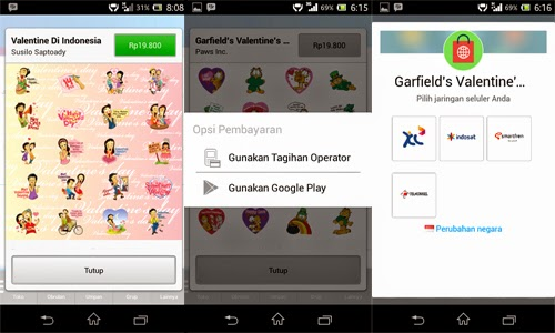 Cara Beli Stiker BBM Dengan Pulsa Telkomsel, Xl, Indosat dan Smartfren